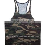 Camo Print Gym Singlet Tank top Singlet Camo design singlet High quality Gym Singlet Fine cotton Gym Singlets