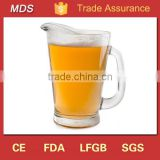 Custom drinking beer glass jug with handle