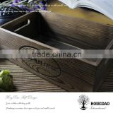 HONGDAO MDF board Baking color wooden book packing box, antique wooden tray with handle