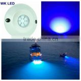 Excellent 60W IP68 Blue Surface Mount Underwater LED Boat Lights/12v LED Boat Lights for Marine Lighting Boat Parts Accessories