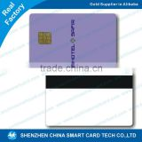 2015 best selling product! CMYK 4C/ Silk screen print plastic white card ic chip contact smart card