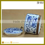 2016 large sales Blue and white porcelain mason jars bulk for home in best sale