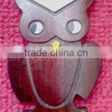 Owl Shaped wooden Decoration (Wood Craft/Gift/Art in laser cut & engraving)