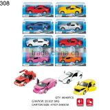 1:32 die cast pull back car with IC & light metal pull back toy car pull back open door die cast toy car 14.5*6*3 cm