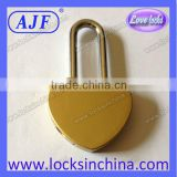 45mm new heart love lock customize love Padlock for cumtomer like