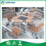 WPC Wood Plastic Composite Wooden Beer Table Set