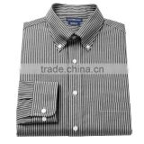 2015 lastest men's cotton black and white long sleeve shirt contrast collar and cuff