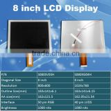 8 inch TFT LCD module with 1024x768 resolution 4/3 aspect ratio industria LCD screen panel S080XG04H