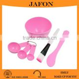4 in 1 DIY Pink Facial Mask Beauty Applicator Mixing Stick Bowl Brush                                                                         Quality Choice