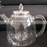 pyrex wholesale glass teapots with infuser/coffee tea set/blooming tea pot