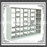 six-layer double side steel bookshelves modern school library furniture Metal Home Furniture Bookracks