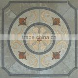 Chinese new work art water jet cut slate/marble medallion