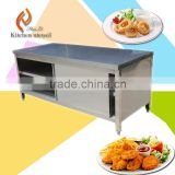 Three tiers commercial stainless steel kitchen cabinet for heating the food with Double movable doors made in china