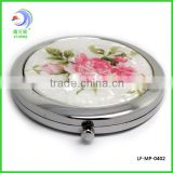 hot sale wedding gift hand mirror / makeup compact cosmetic hand gift mirror / China cosmetic factory(LD-130)