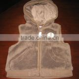 2015 Latest design baby Winter fleece vest