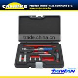 "CALIBRE Tool Set 12PC 1/4""Dr Socket and Torque ratchet Set Torque Wrench Set"