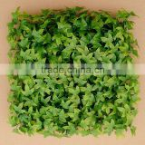 Wall Decorative Plastic Indoor Artificial Ivy Grass Mat Hedge for Sell