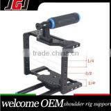 Dslr Camera Cage Stabilizer Rig Kit Support 15mm Rod Rig for Nikon D7000 D5200 for Sony A850 A700 A550 for Olympus E-P3 E-P5