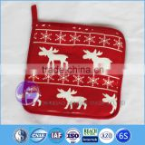 Christmas wholesale 100 cotton oven mitt plain white pot holder
