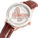 W40010 2016 WEIQIN Latest design wristwatches IP rose gold alloy case with ceramic bezel