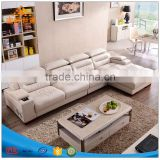 Contracted and contemporary family sitting room size L combination dermal sofa corner paper art furniture sofa head layer cowhid