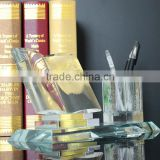 beautiful clear crystal glass office gift item