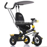 2015 new model metal frame baby tricycle / big kid tricycle with trailer / kid bicycle child tricycle with canpony