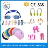 Wholesale Swimming Equipment Silicone Swim Cap,Swim Goggle,Ear Plugs,Nose Clip Water Sports Diving Equipment