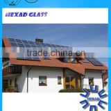 HEXAD High Quality Light Transmittance solar panel cover glass thickness 3.2mm with ISO Certificate