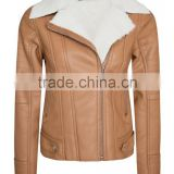 Women Blended Synthetic Leather PU Jacket