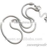 wholesale starter charm 316l stainless steel snake chain