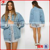 2016 custom made clothing manufacturers women's denim jacket                                                                         Quality Choice