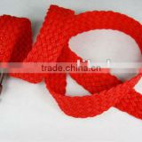 Factory Customized Handmade Braided Thread Cotton Waxed Belt with Alloy
