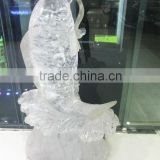 Animal design fish shaped transparent crystal fish crystal carving fish