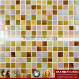 IMARK Design Gold Star Glass Mosaic Tile Mix Quartz Glass Mosaic Tile Kitchen Tile Bathroom Tile Wall Art Mosaic Tile Homedepot