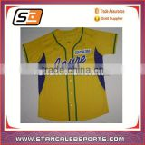 Sublimated Baseball/High Quality cheap wholesale plain baseball jerseys/ Fashionable baseball shirt