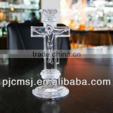 crystal glass Jesus cross for religious product decoration gifts