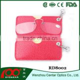 New arrival Foldable eyewear, Pocket clip reading glasses with case,Wallet reading glasses without arms
