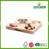 New divided bamboo chip and dip tray snack serving tray wholesale