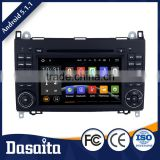 Cheap 7 inch Android 5.1.1 1080p Black colored car dvd GPS navigation for Benz Viano Vito W639