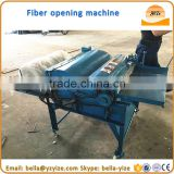 Cotton scraps opening and scutching machine,waste textile cotton recycling machine,cotton slitting machine fiber opening machine