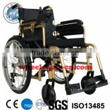 Aluminum made CE Approved foldding Lightweight power wheelchair with li-lon battery EW9606D