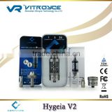 100% Authentic Ceravape e-cigarette best glass atomizer Hygeia V2 with 0.9/1.2/1.4Ohm dual coil head