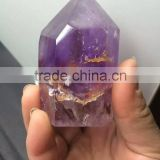 Wholesale nature amethyst crystal point/wand for fengshui or energy