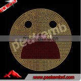 Wholesale Emoji Rhinestone Transfer Iron On Hotfix Motif For Kids T-shirt Customized Design
