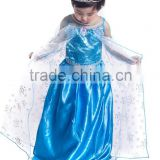 Hot sale frozen elsa custom photo made cosplay party dresses beautiful baby girl names pictures children frocks designs