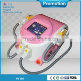 Salon Top best effective 2 in 1 e-light(ipl rf)beauty apparatus with CE/TUV certificates