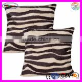 F071 Faux Fur Throw Pillow Cushion Sofa Pillow Cover Case Siberian Tiger Pattern Fur Cushion