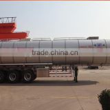 Tri Axles Fuel/ Oil Loading Tank Semi Truck Trailer with Other Dimensions , truck trailer spare parts