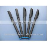 business office logo gel pen / Rubber Custom Black Gel Pen